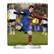 Lionel Messi Shower Curtain
