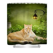 Lioness Dream Shower Curtain