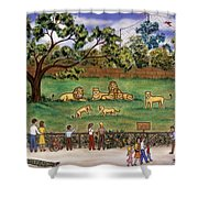 Lions At The Zoo Shower Curtain