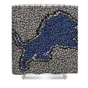 Lions Bottle Cap Mosaic Shower Curtain by Paul Van Scott