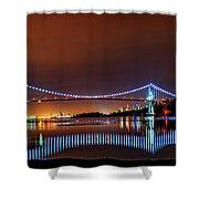 Lions Gate Bridge At Night 2 Shower Curtain