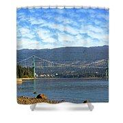 Lions Gate Bridge By Stanley Park Shower Curtain