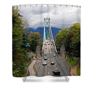 Lion's Gate Bridge Shower Curtain