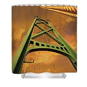 Lions Gate Bridge Tower Shower Curtain