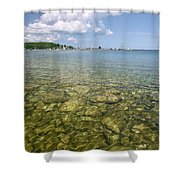 Lion's Head - Summer Afternoon On The Dock Shower Curtain