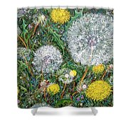 Lions Of The Garden Shower Curtain