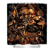 Lions Roar Shower Curtain