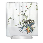 Lips Peeled Back Shower Curtain