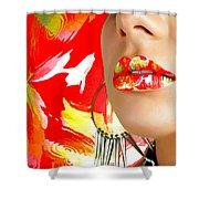 Lips Radiance Shower Curtain