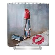 Lipstick Kiss Shower Curtain