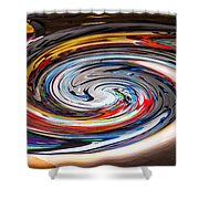 Liquefied Graffiti 4 Shower Curtain