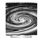 Liquefied Graffiti In Black And White Shower Curtain