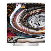 Liquefied Graffiti Shower Curtain
