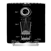 Liquershot Glass Patent 1925 Black Shower Curtain