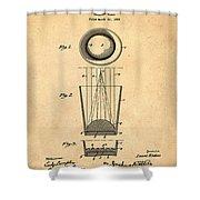 Liquershot Glass Patent 1925 Sepia Shower Curtain