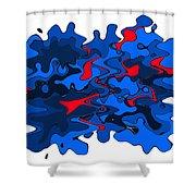 Liquid 4 Shower Curtain
