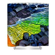 Liquid Abstract Eleven Shower Curtain