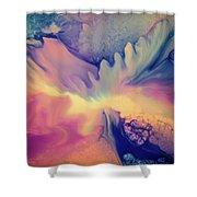 Liquid Abstract Nebula Shower Curtain
