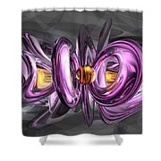 Liquid Amethyst Abstract Shower Curtain