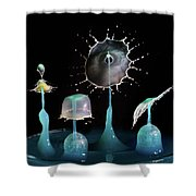 Liquid Art Composite Shower Curtain
