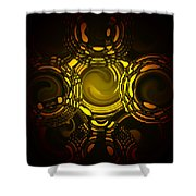 Liquid Aurora 1 Shower Curtain
