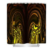 Liquid Aurora 5 Shower Curtain