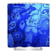 Liquid Blue Dream - V1lllt90 Shower Curtain