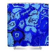 Liquid Blue Dream - V1vhkf100 Shower Curtain