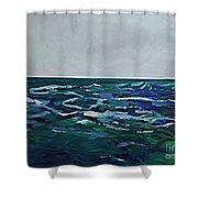Liquid Blue No.4 Shower Curtain