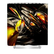 Liquid Chaos Abstract Shower Curtain