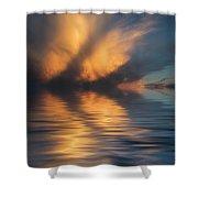 Liquid Cloud Shower Curtain