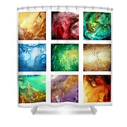 Liquid Color I By Madart Shower Curtain