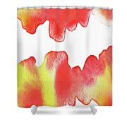 Liquid Fire Watercolor Abstract II Shower Curtain