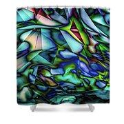 Liquid Geometric Abstract Shower Curtain