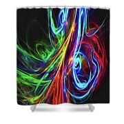 Liquid Neon Shower Curtain
