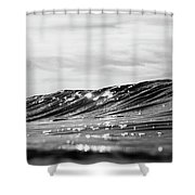 Liquid Silver I Shower Curtain