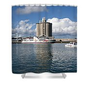 Liquid Vegas Gambling Boat Shower Curtain