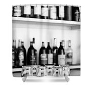 Liquor Bottles Shower Curtain