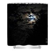 Lisas Wildlife Moons Shower Curtain