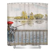 Lisbeth Angling. From A Home By Carl Larsson Shower Curtain