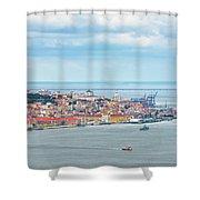 Lisbon 10 Shower Curtain