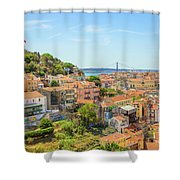 Lisbon Aerial View Shower Curtain