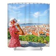 Lisbon Castle Woman Shower Curtain