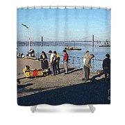 Lisbon Pier 4 Shower Curtain
