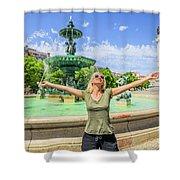Lisbon Tourism Concept Shower Curtain