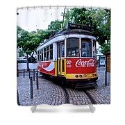 Lisbon Tram Shower Curtain