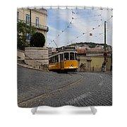 Lisbon Trolley 10 Shower Curtain
