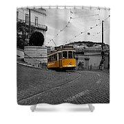 Lisbon Trolley 10c Shower Curtain