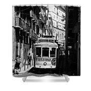 Lisbon Trolley 16b Shower Curtain
