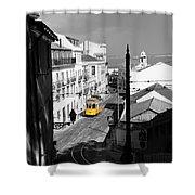 Lisbon Trolley 17c Shower Curtain
